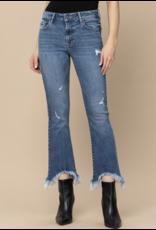 Hidden Hidden Frayed Cropped Flare Jeans