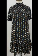 THML THML Semi Circle Print Smocked Dress
