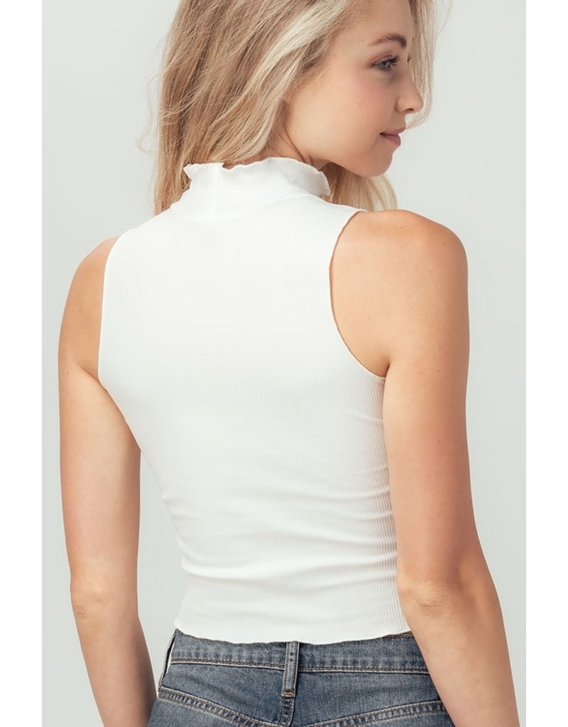 Trend Notes Trend Notes Ribbed Mock Neck Essential Top