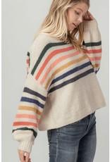 Trend Notes Trend Notes Multi Color Drop Shoulder Sweater
