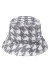 Accity Accity Fleece Houndstooth Bucket Hat
