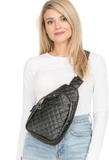 Cap Zone Cap Zone Quilted Shoulder Sling Bag