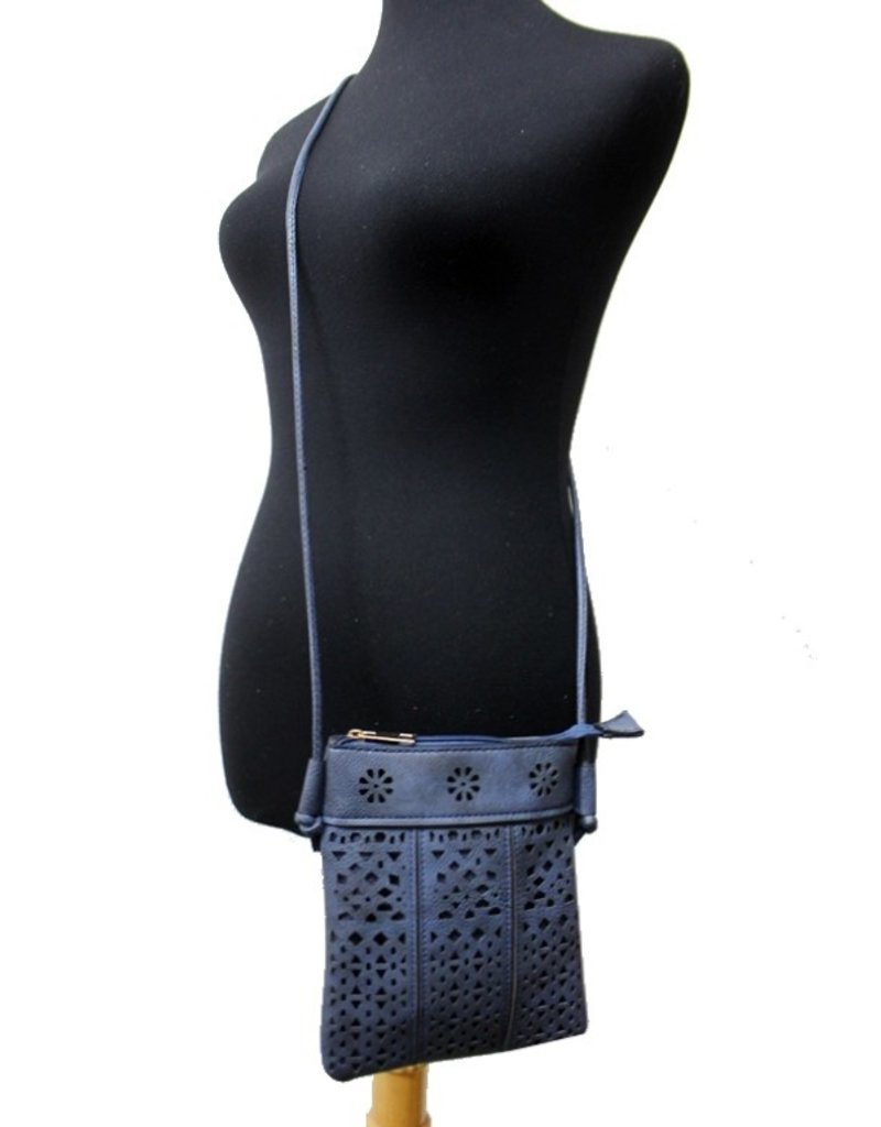 Cap Zone Cap Zone Laser Cut Crossbody Bag