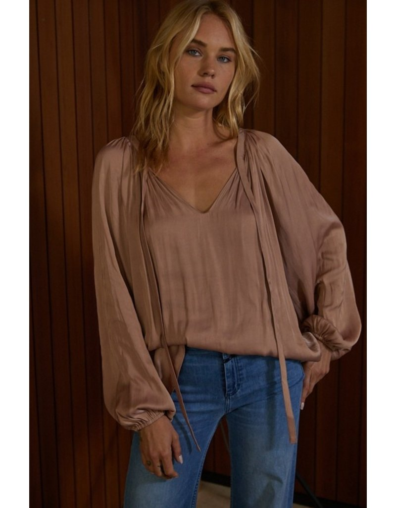 By Together By Together Satin Long Sleeve Blouse