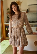 By Together By Together Chiffon Long Sleeve Ruffle Dress