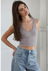 By Together Ribbed Crop Bra Tank
