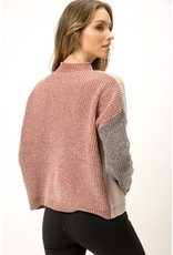Mystree Mystree Color Block Sweater