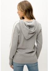 Mystree Mystree Striped Sweater Hoodie