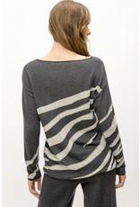 Mystree Mystree Zebra Pattern Sweater