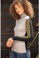 Mystree Mystree Color Block Fitted Sweater