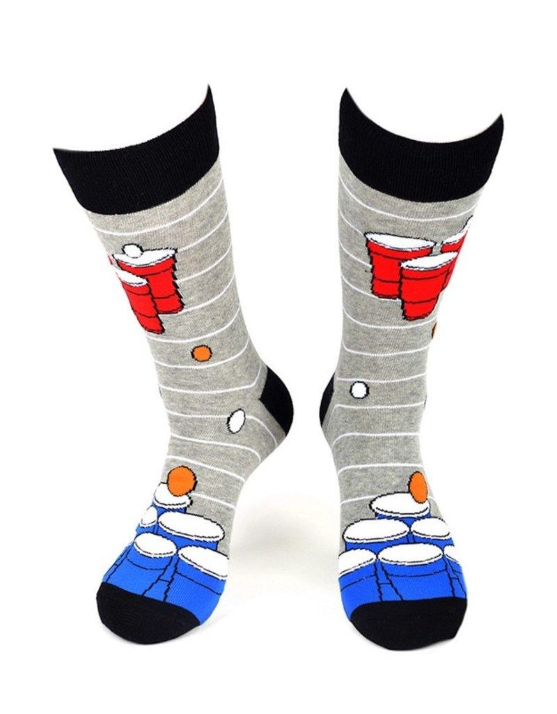 Selini Men's Novelty Socks Pong
