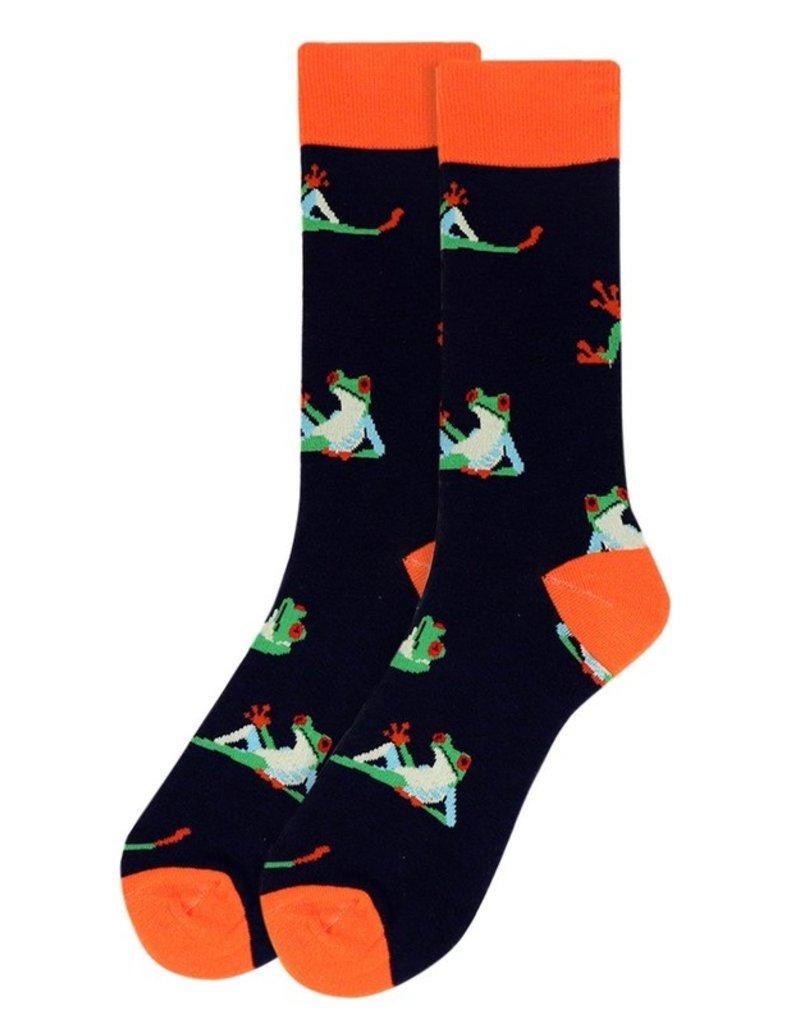 Selini Men's Novelty Socks Frog