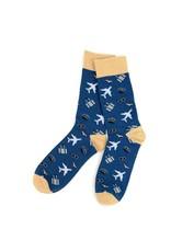 Selini Men's Novelty Socks Airplane