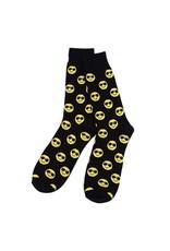 Selini Men's Novelty Socks Smiley Face