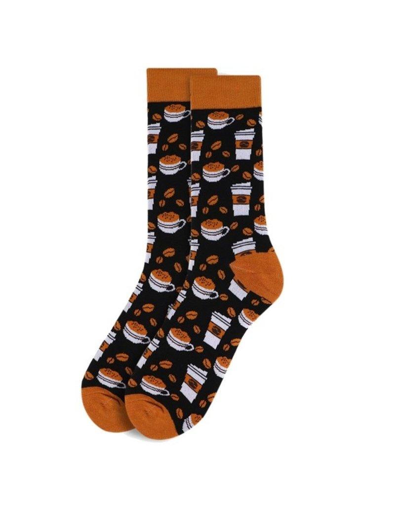Selini Men's Novelty Socks Coffee