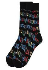 Selini Men's Novelty Socks Music Notes