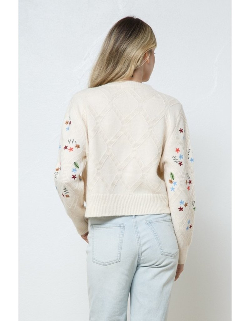 In the Beginning In the Beginning Embroidered Sweater