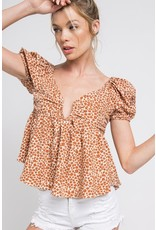 In the Beginning In the Beginning Floral Top