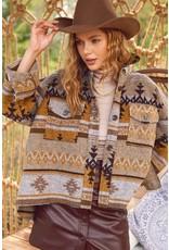 La Miel La Miel Boho Aztec Jacket