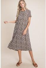 Sung Light Clothing Sung Light Clothing Floral Print Midi Dress