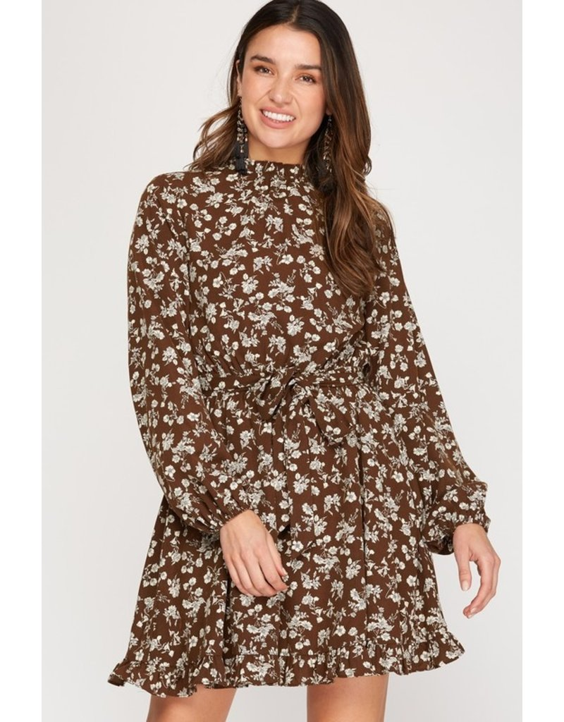 La Vida La Vida Floral Woven Dress