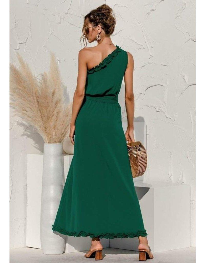 Anna-Kaci Anna-Kaci Date Night One Shoulder Maxi Dress