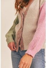 Lush Lush Color Block Cardigan