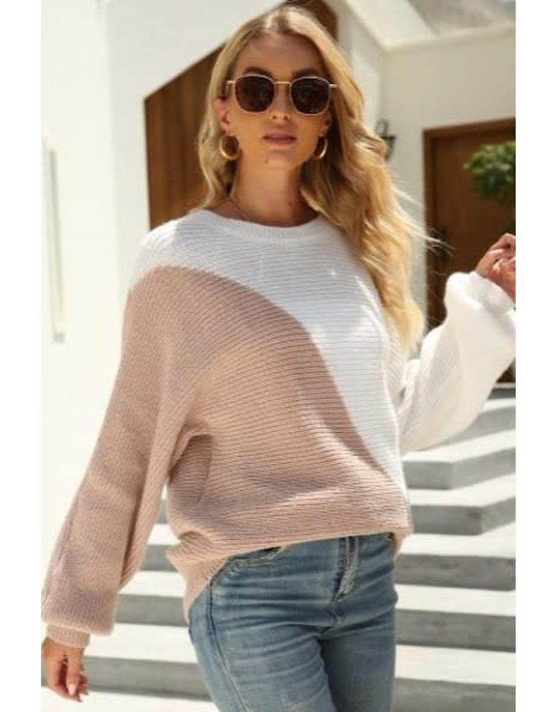 Miss Sparkling Miss Sparkling Color Block Sweater