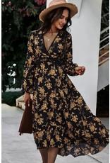 Miss Sparkling Miss Sparkling V-Neck Floral Print Dress