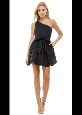 TCEC One Shoulder Poplin Dress
