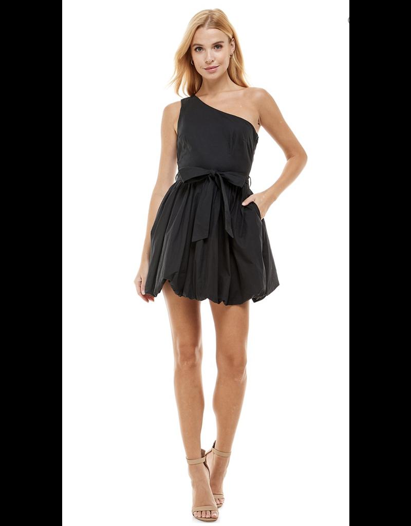 TCEC TCEC One Shoulder Poplin Dress