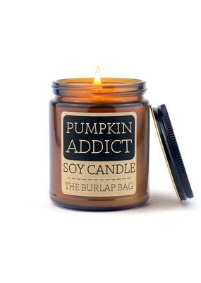 The Burlap Bag 9oz. Candle Pumpkin Addict