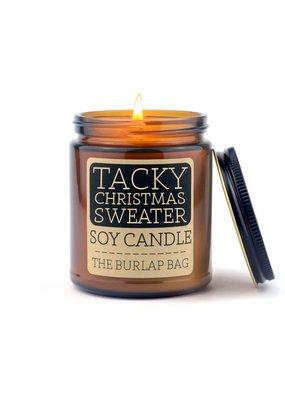 The Burlap Bag 9oz. Candle Tacky Xmas
