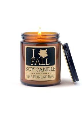 The Burlap Bag 9oz. Candle I Love Fall