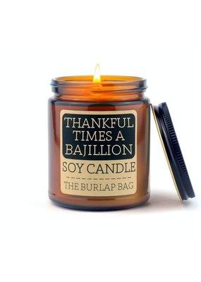 The Burlap Bag 9oz. Candle Thankful