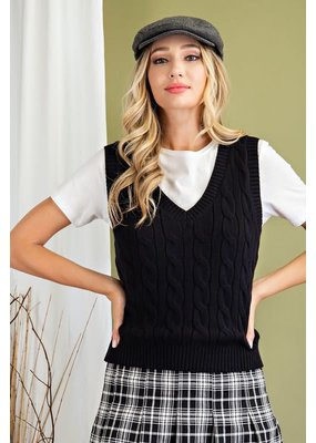 ee:some Preppy Knit Cable Vest