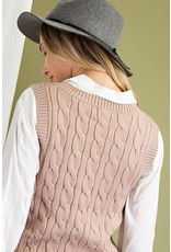 ee:some ee:some Preppy Knit Cable Vest