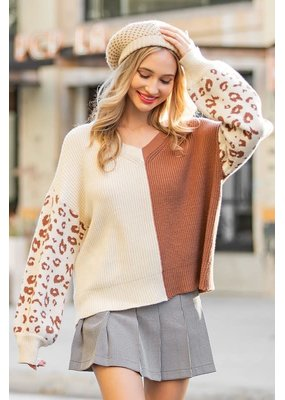 ee:some Two Tone Knit Sweater