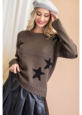 ee:some Textured Star Sweater