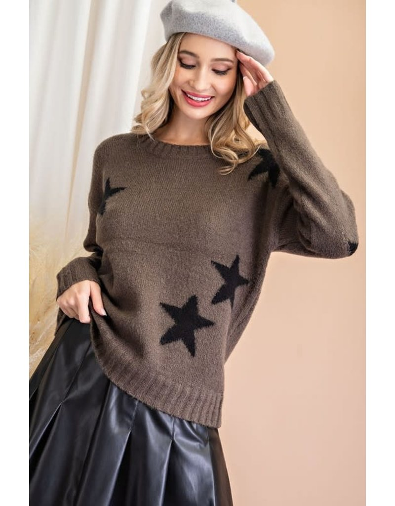 ee:some ee:some Textured Star Sweater