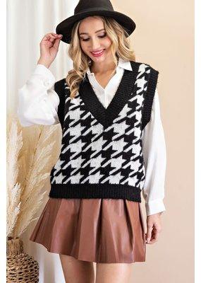 ee:some Houndstooth Sweater Vest