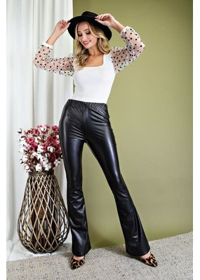 ee:some Faux Leather High Waisted Pants