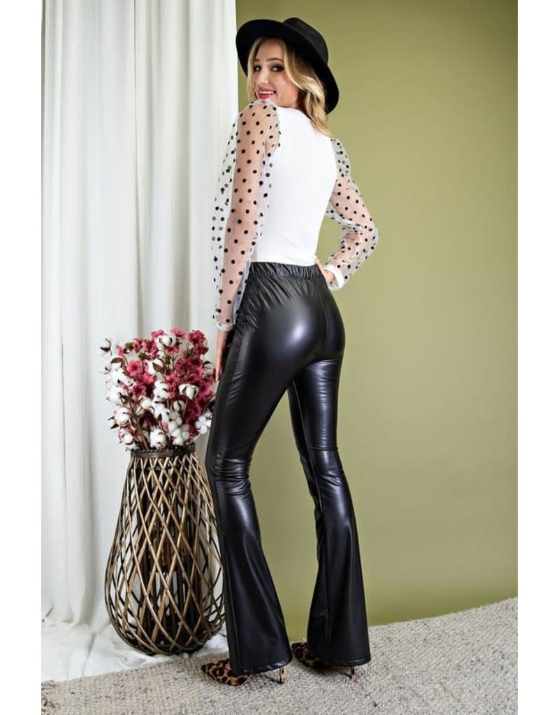 ee:some ee:some Faux Leather High Waisted Pants