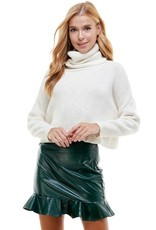 TCEC TCEC Ribbed Knit Turtleneck Sweater