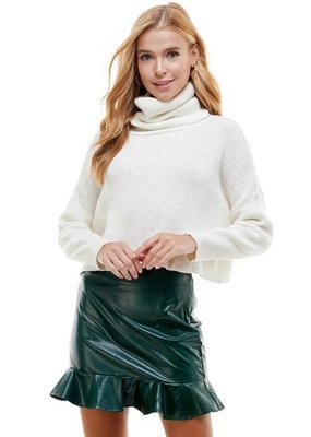 TCEC Ribbed Knit Turtleneck Sweater