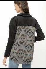 Mystree Mystree Fringe Aztec Jacket