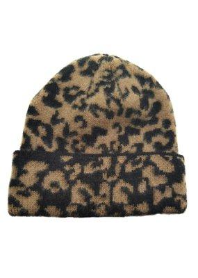 Suzie Q Leopard Knit Beanie