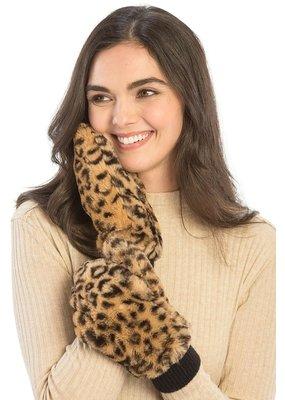 Suzie Q Leopard Faux Fur Mittens