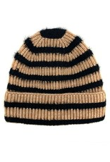 Suzie Q Suzie Q Knitted Striped Beanie
