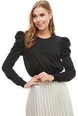 TCEC TCEC Knit Puff Sleeve Top